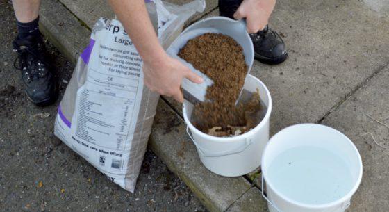 Sand in bucket 1