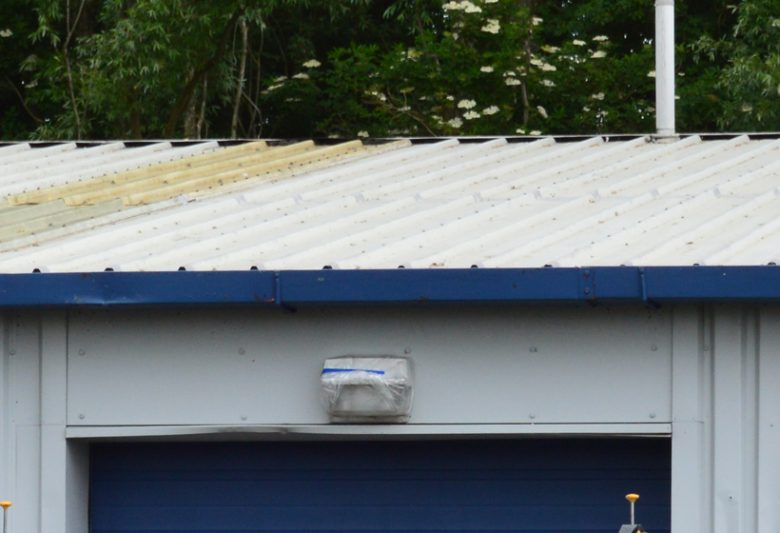 Roof after cut edge repair