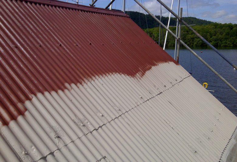 Lake District Boat Club Roof Spraying