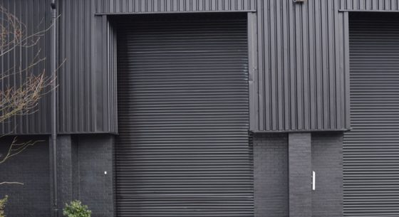 Chief Productions roller shutter door after painting