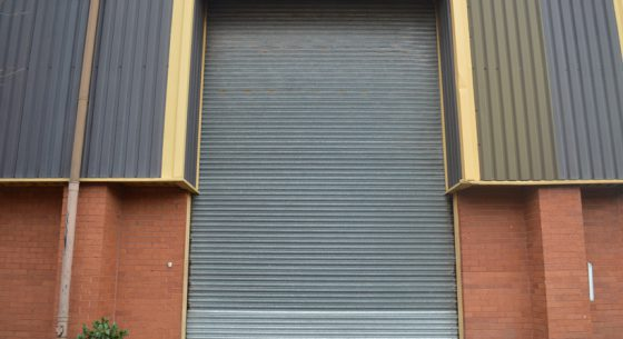 Chief Productions roller shutter door before painting