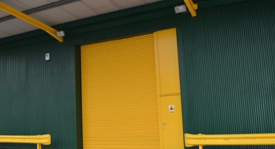Britannia Willis Roller Shutter Door After On-site Spraying