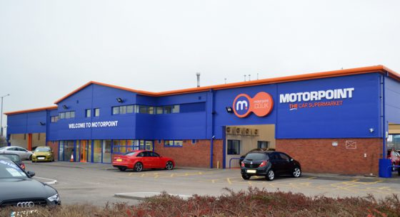 Motorpoint Shop front After External Refurbishment