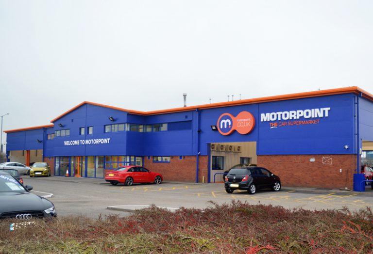 Motorpoint Shop front After External Refurbishment