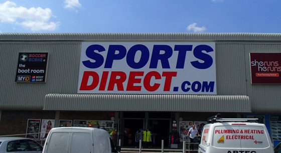Sports Direct Shopfront Spraying Complete