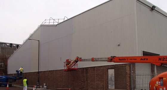 Sports Direct During Shopfront Spraying