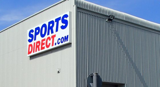 Sports Direct Shopfront Spraying
