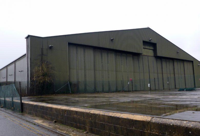 Aircraft Hanger Before External Refurbishment