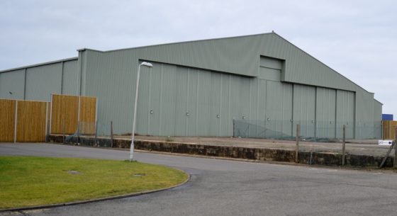 Aircraft Hanger On-site Spraying