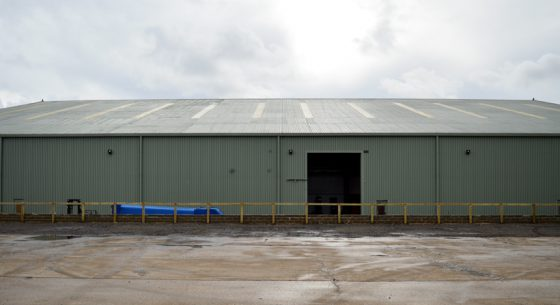Aircraft Hanger Roof Onsite Spraying