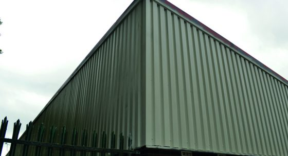 North Seaton Industrial Estate Cladding After Spraying