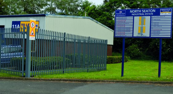 North Seaton Industrial Estate Entrance