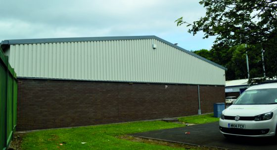 North Seaton Industrial Estate Gable After Coating