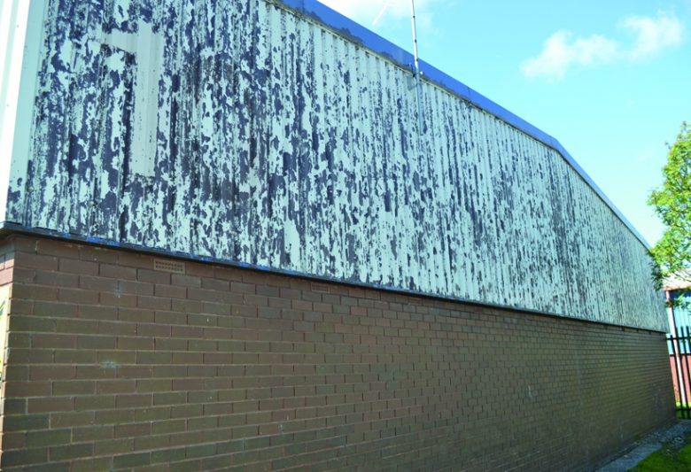 North Seaton Industrial Estate Gable Before Coating