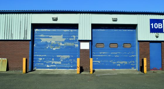 North Seaton Industrial Estate Roller Doors Before Painting