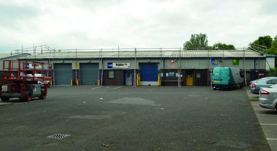 North Seaton Industrial Estate During Refurbishment