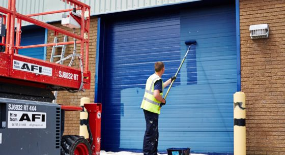The Onsite Painting of Factory Doors