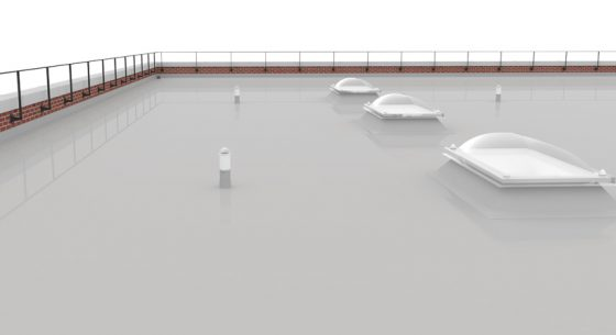 Elastaseal flat roof coating