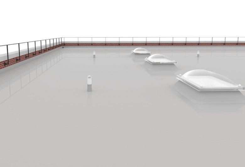 Elastaseal flat roof coating