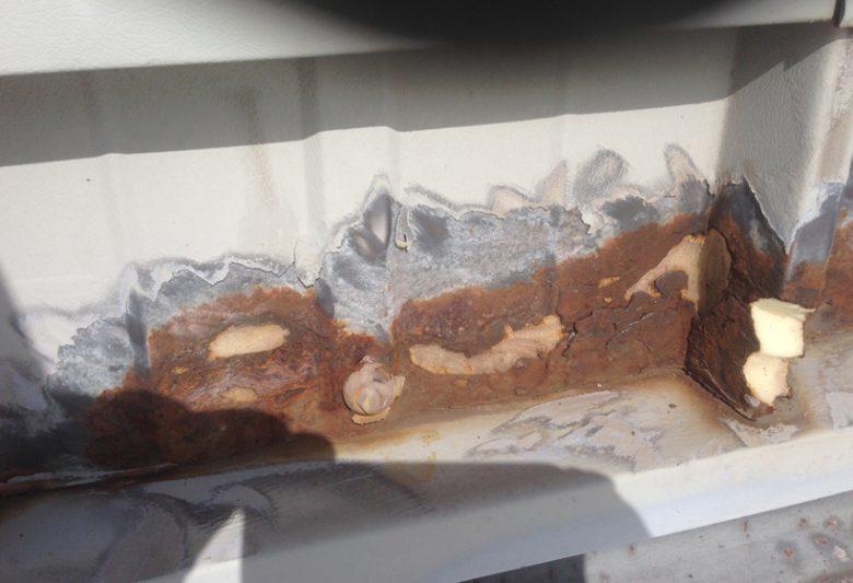 Parcelforce aberdeen severe sheet corrosion damage