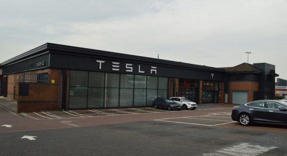 Tesla Car Showroom, Leeds, West Yorkshire
