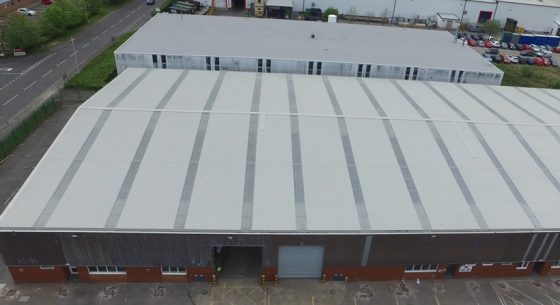 Consett Unit Roof after coating
