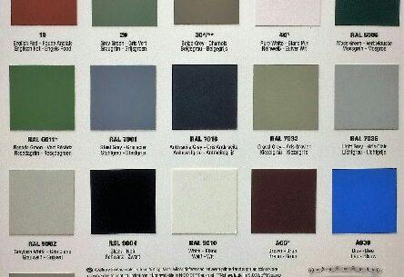 Noxyde Colour Chart