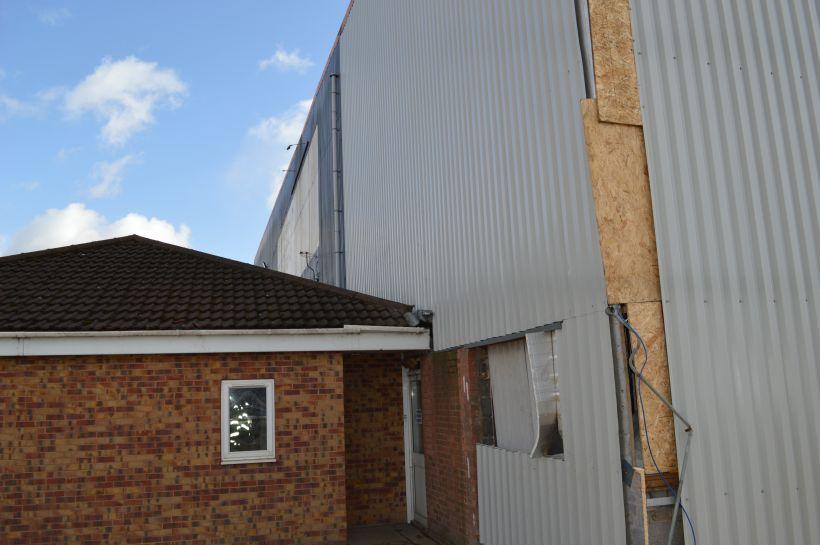 External wall during refurbishment