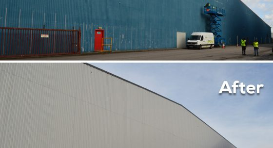 Before and after side Bibbys Refurbishment