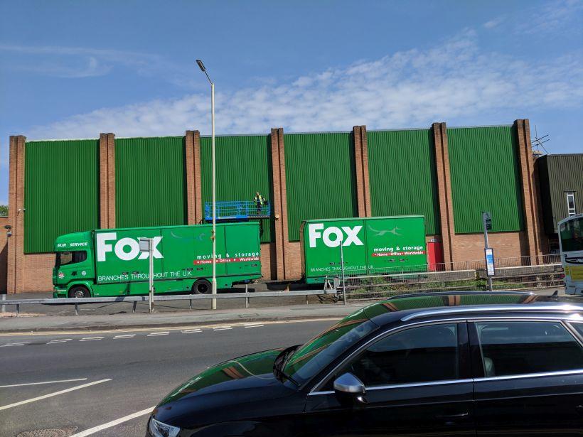 Fox Moving & Moving Cladding Refurbishment