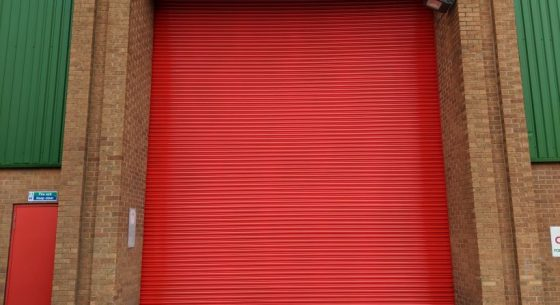 Red Roller Shutter Door Refurbishment