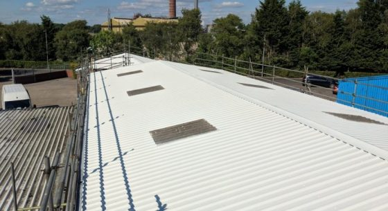 On-Site Spraying - Roof Refurbishment