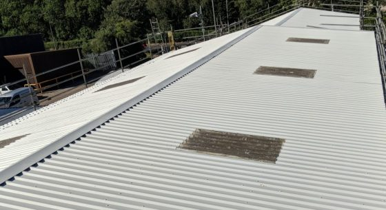 Roof Re-coating Refurbishment On-Site Spraying
