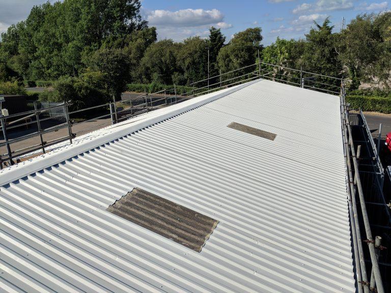 Roof Refurbishment On-Site Spraying