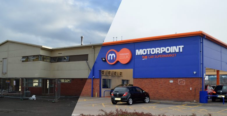 motorpoint car showroom before and after