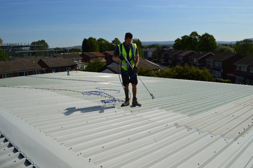 Hadfield House Onsite roof spraying