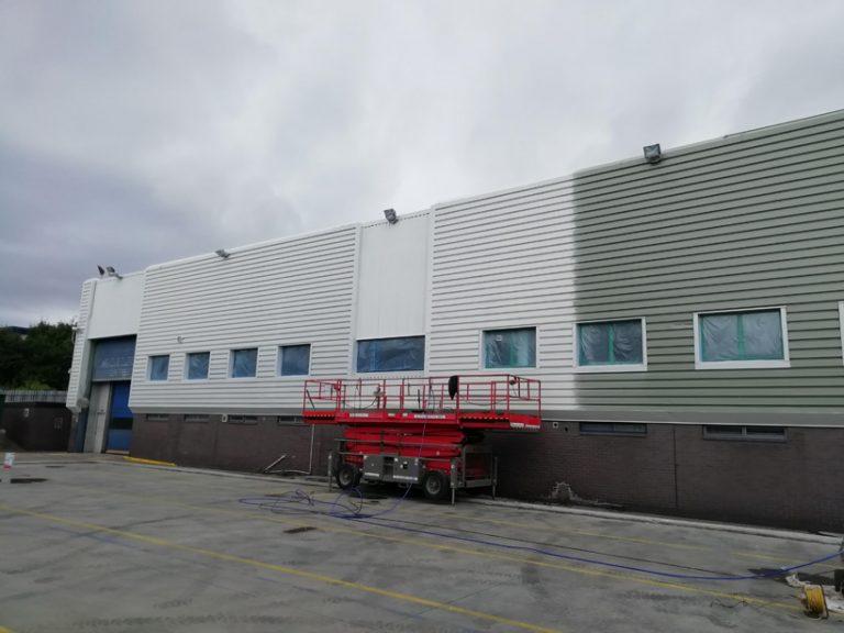 IAC Sunderland During Onsite Spraying