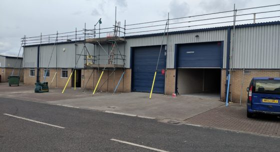 Industrial Unit Blyth Before Refurbishment