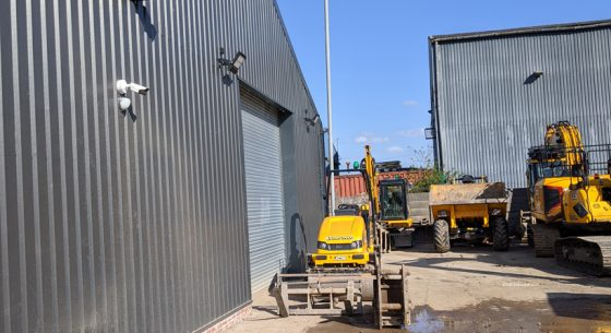 Lomond Plant Hire Liverpool During Painting