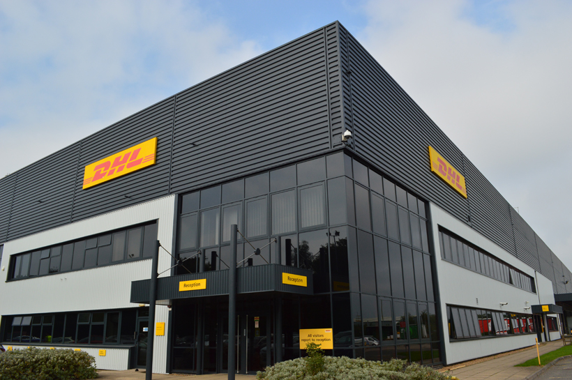 front of DHL building after refurbishment