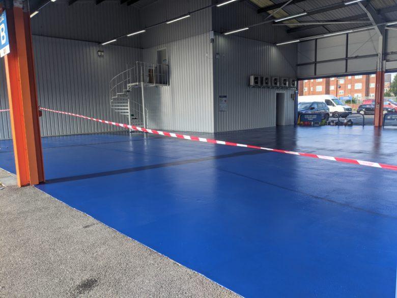 Motorpoint Widnes Internal Floor