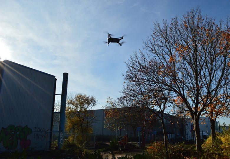 drone survey in progress