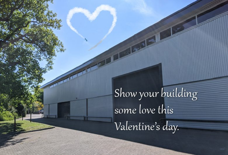 A refurbished building - show your building some love this Valentine's day