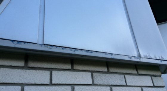 Residential Property before cladding wrapping showing corrosion