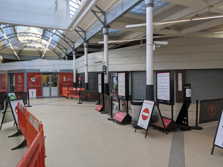 Swansea Railway Station finished project