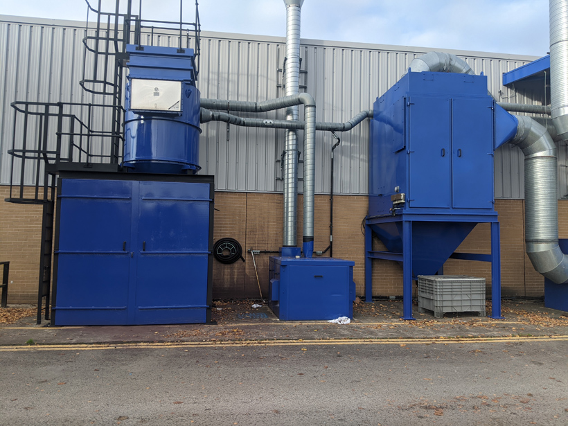Brother Industries Wrexham after painting equipment