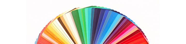 Paint colour swatches