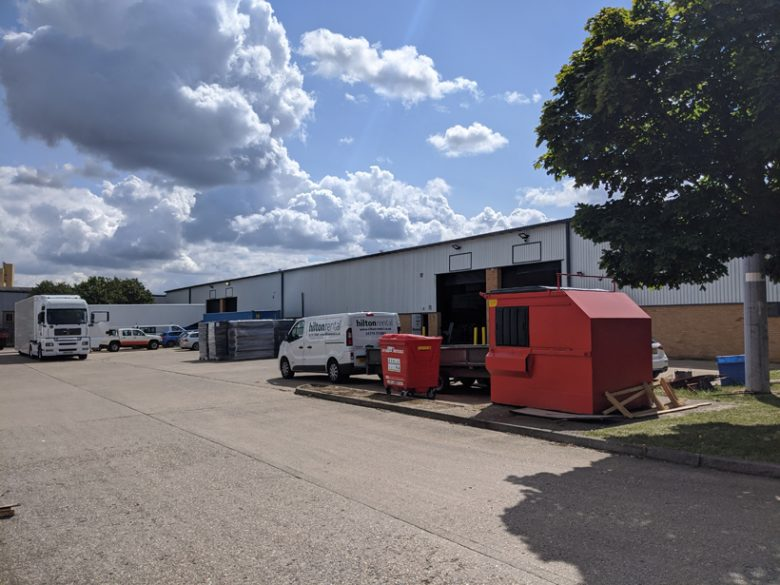 Industrial Units Corby Cladding Refurbishment