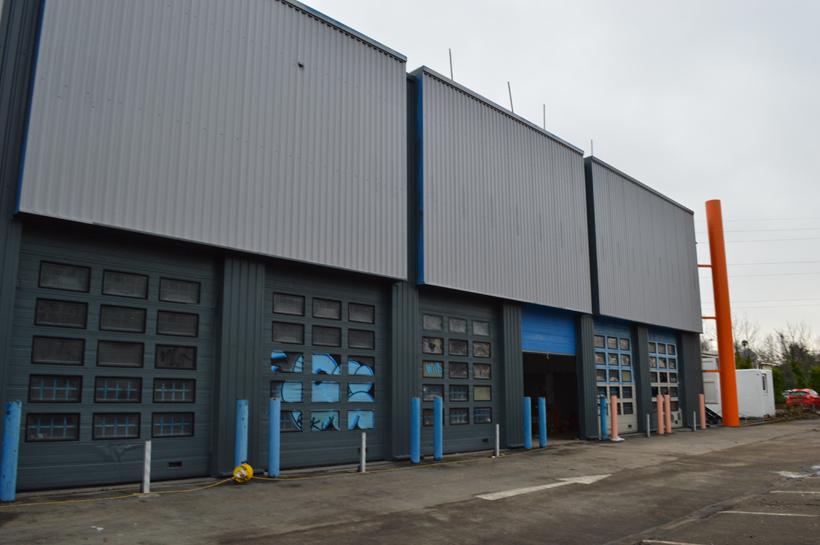 Former Hallfords unit Hull Cladding Restoration
